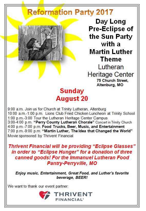Reformation Eclipse Party flyer