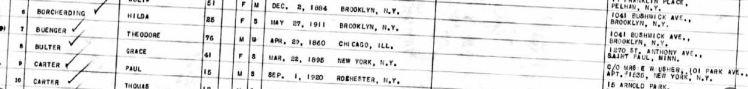 Theodore Buenger passenger list 1936