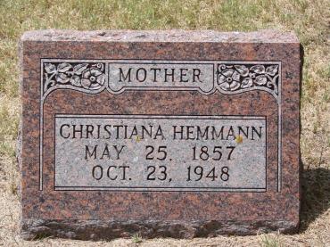 Christiana Hemmann tombstone