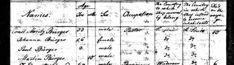 Copernicus Passenger List p1 Buergers