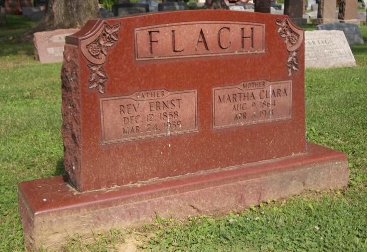 Ernst Flach tombstone Peoria