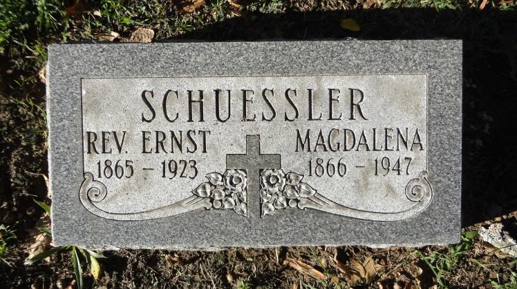 Ernst Schuessler tombstone