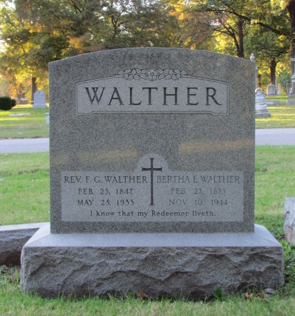 Ferdinand and Bertha Walther tombstone