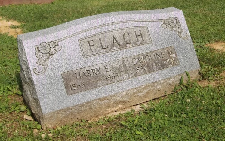 Harry Flach tombstone Peoria