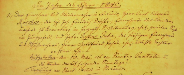 Jahn-Roschke marriage record