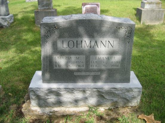 Maria Lohman tombstone