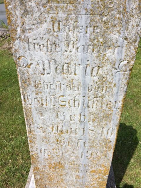 Maria Schuessler tombstone