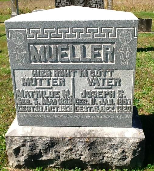 Mueller grave Wittenberg