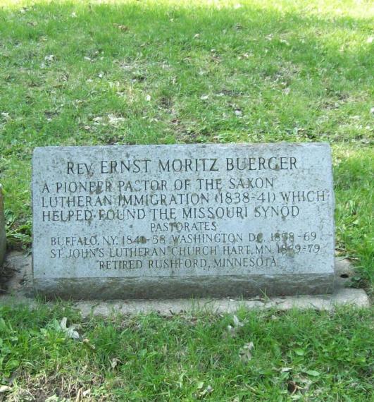 Ernst Moritz Buerger grave marker