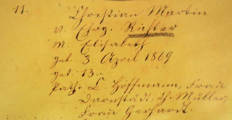 Martin Richter birth record