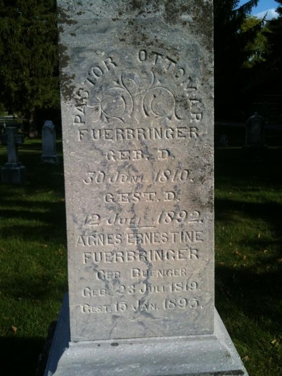 Ottomar Fuerbringer gravestone