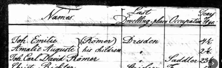 Roemer Passenger List Olbers