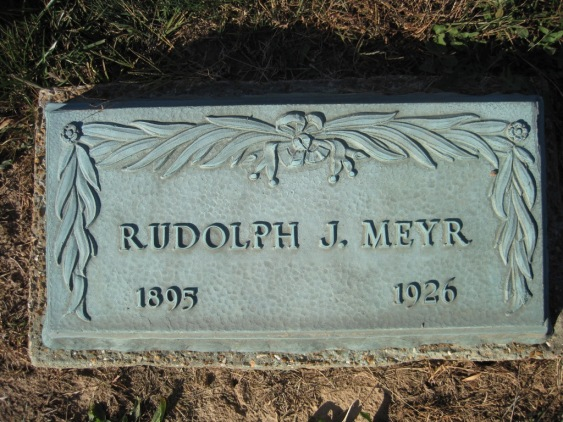 Rudolph Meyr tombstone