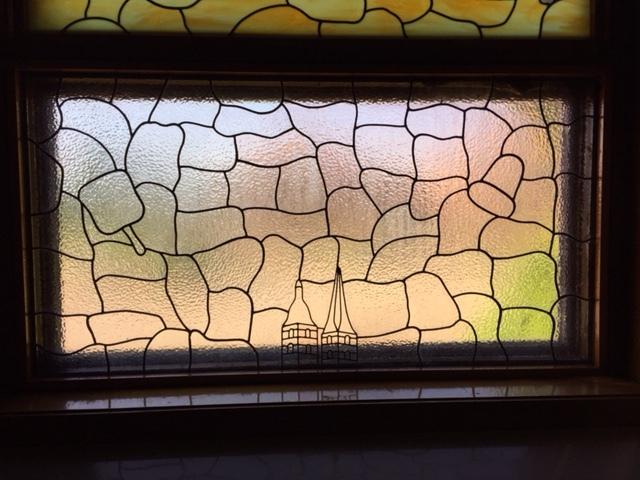 Stained Glass Window - Funeral Fan