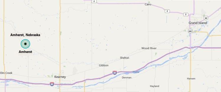 Amherst NE map