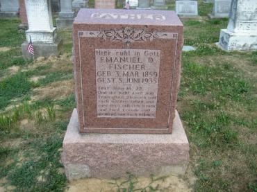 Emmanuel Fischer gravestone