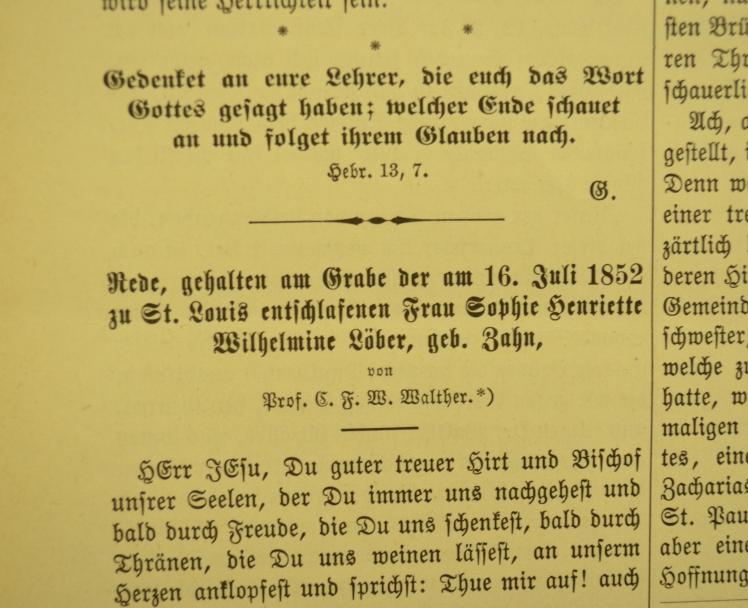 Funeral sermon for Mrs. Loeber Der Lutheraner.JPG