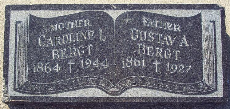 Gustav Bergt gravestone
