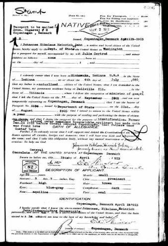 Hans Jahn passport