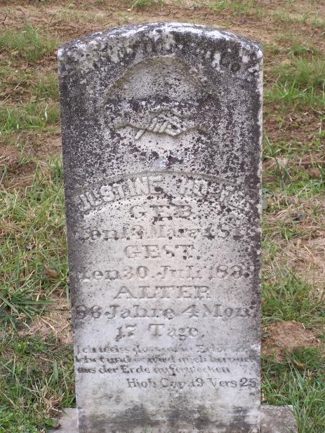 Justine Hopfer gravestone