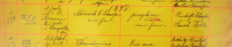 Telle Schaeffer marriage record