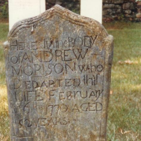 Andrew Morrison gravestone 2