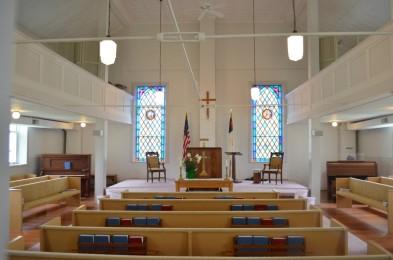 Brazeau Presbyterian interior
