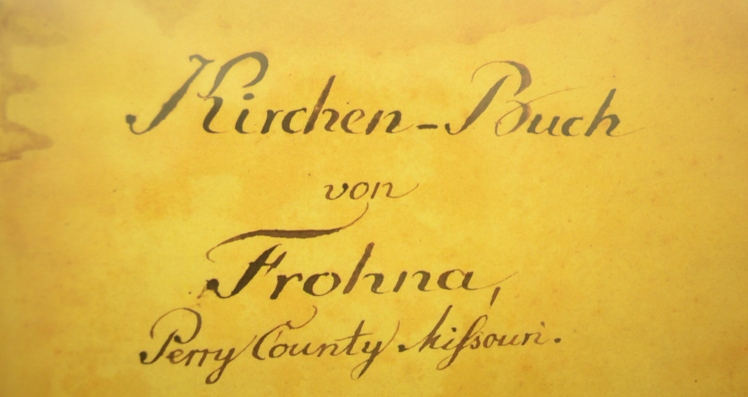 Cover Page Frohna records