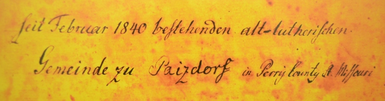 Cover Page Paitzdorf records