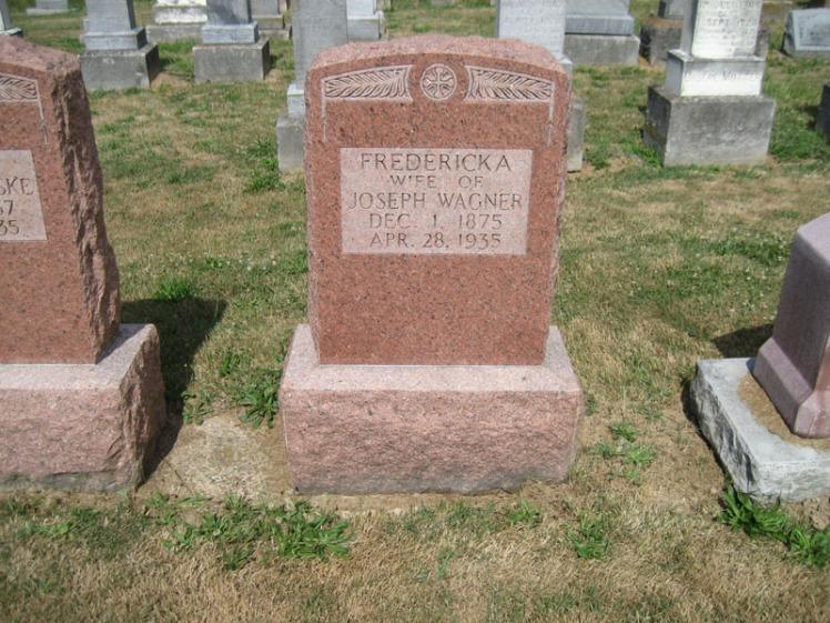Fredericka Wagner gravestone