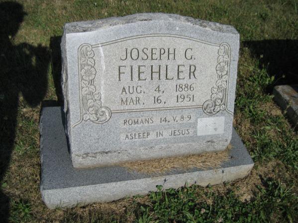 Joseph Fiehler gravestone