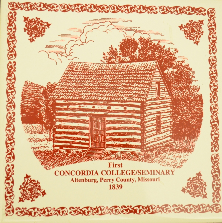 Log Cabin College trivet