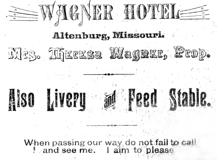 Wagner Hotel ad