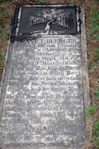 ernst-theodore-buenger-gravestone