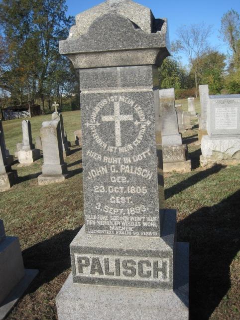 J.G. Palisch gravestone
