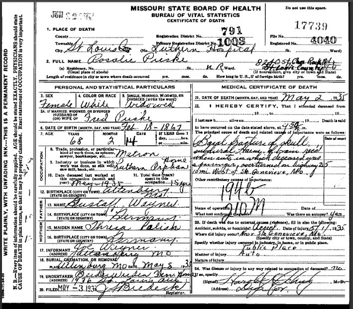 rosalie-pieske-death-certificate
