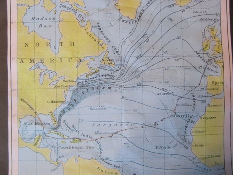 olbers-route-across-atlantic-map