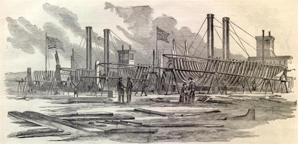 600p-us-mississippi-gunboats-being-built-at-carondelet-harpers-weekly-1861-10-5