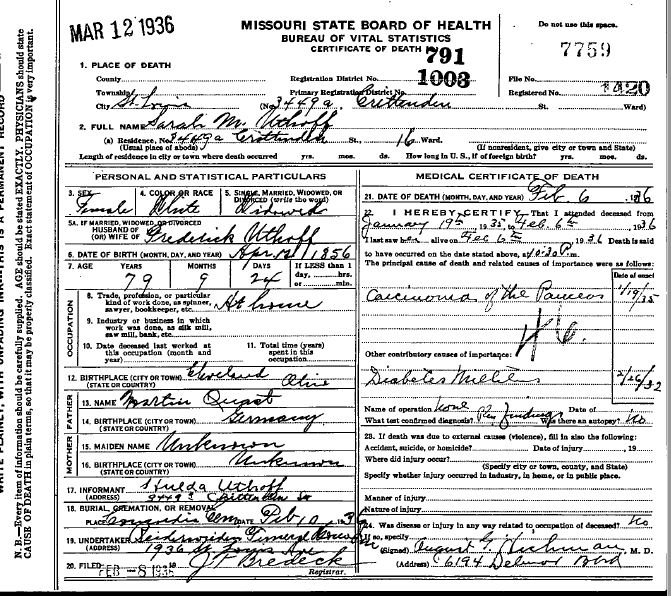sarah-quast-uthoff-death-certificate