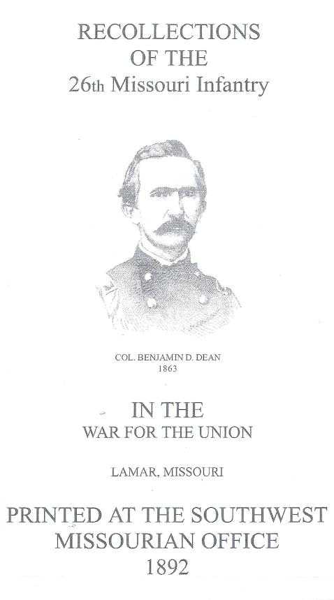 6 Regimental History Title Page