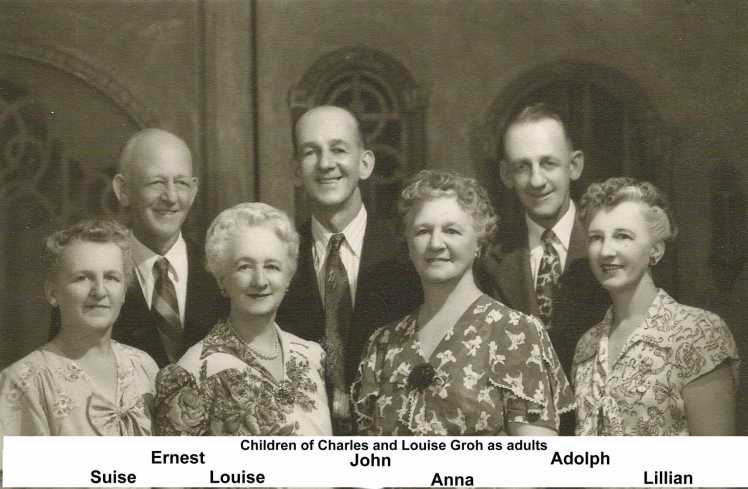 Carl and Louise Groh children