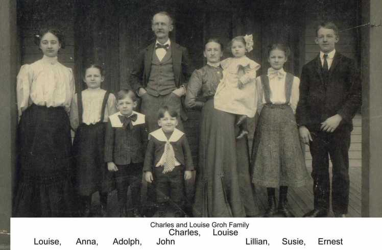 Carl and Louise Groh family