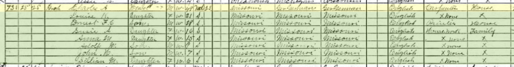 Carl Groh 1910 census Alva