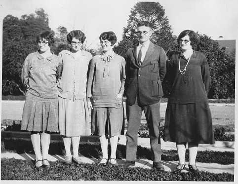 Elfrieda, Leona, Hilda, Albert, Nora Wunderlich