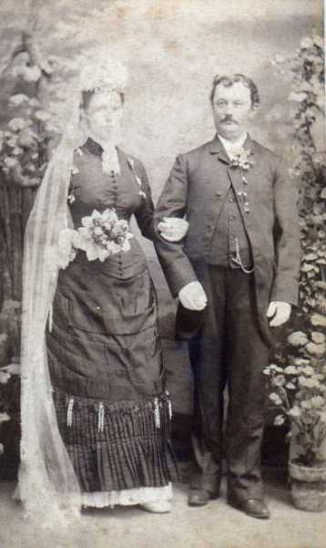 Friedrich and Pauline Buenger 1884