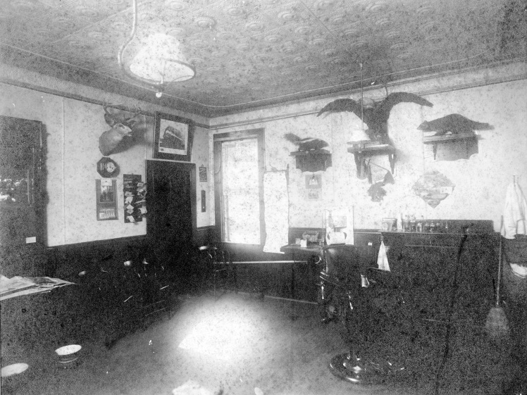 inside Christensen barber shop M tif