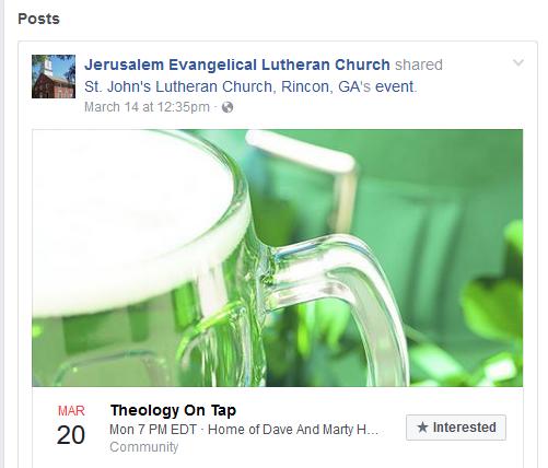 Jesusalem Lutheran Theology on Tap
