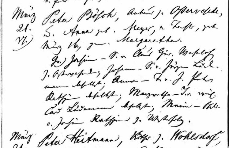Margaretha Bosch baptism