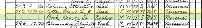 Maria Lottes 1940 census