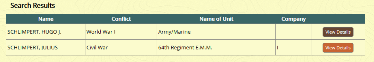 MO Sos Soldier's Records Schlimpert results